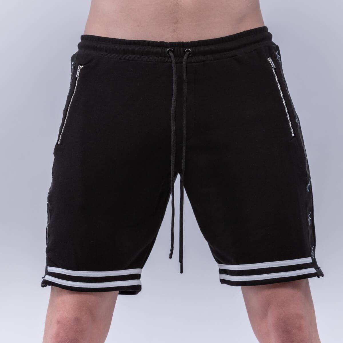 Men's Shorts   Private Label Short Manufacturer: Men's Basketball Short - Cotton Polyester Fleece - Black - Long Cord - Spring Summer - Fashion Apparel
