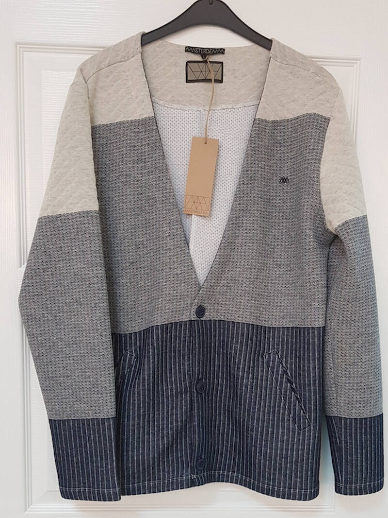 Men's Cardigans | Private Label Cardigan Manufacturer: Men's Cardigan - Jacquared Kapitone Fabric - Color Block - Elegant - Fashion Apparel - Autumn Winter - Long Sleeve