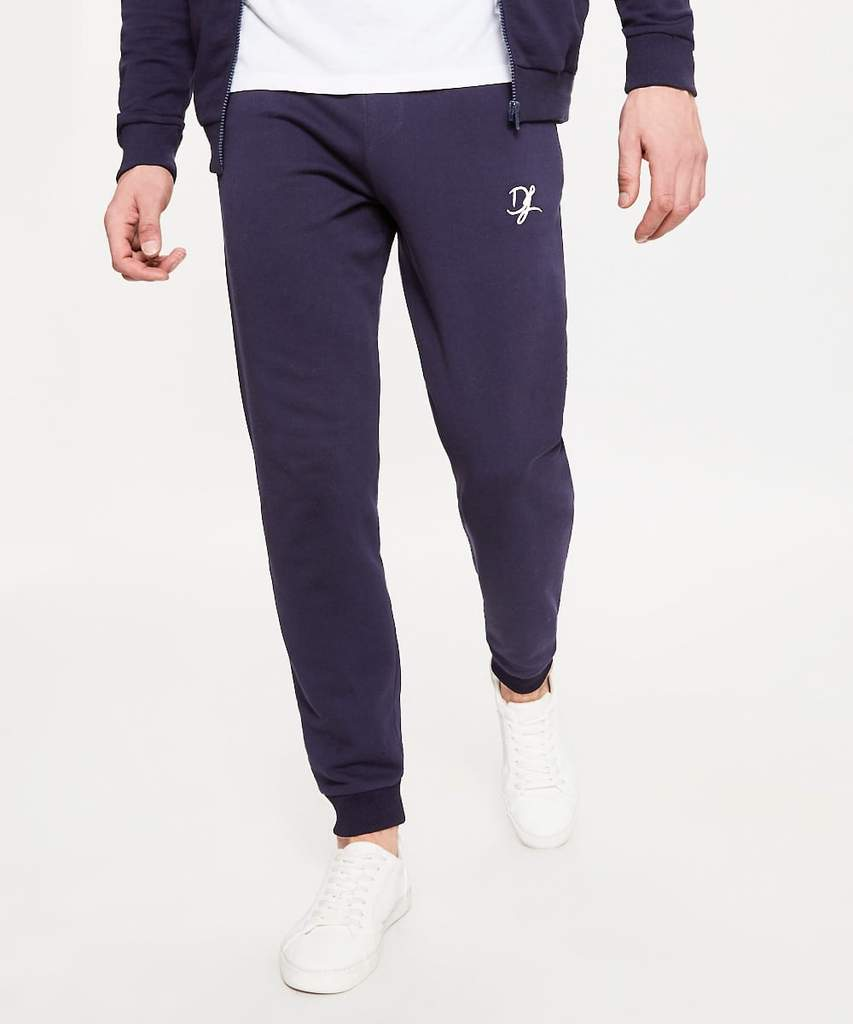 Men's Joggers | Private Label Jogger Manufacturer: Men's Jogger Pant - Cotton Polyester Fleece - Heavy Jersey - Sportswear - Embroidered Logo - Activewear - Casual Apparel - Navy